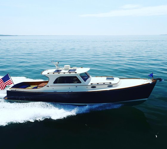 This 36.0' Hinckley cand take up to 6 passengers around Sag Harbor