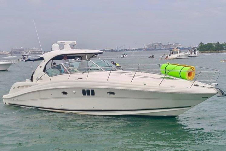 Enjoy Miami lifestyle aboard  this beautifully yacht.