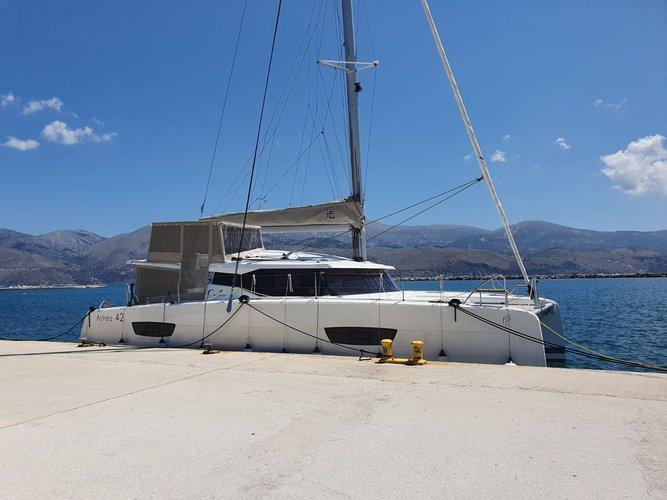 Experience Sami - Kefalonia on board this elegant sailboat