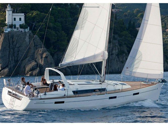 Enjoy luxury and comfort on this Beneteau Beneteau Oceanis 45 in St. Petersburg