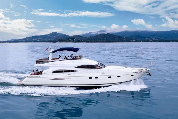 Relax and enjoy onboard this magnificent Princess 65 yacht