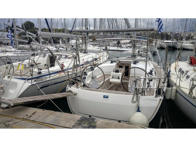 Sail the beautiful waters of Athens on this cozy Bavaria Yachtbau Bavaria Cruiser 37