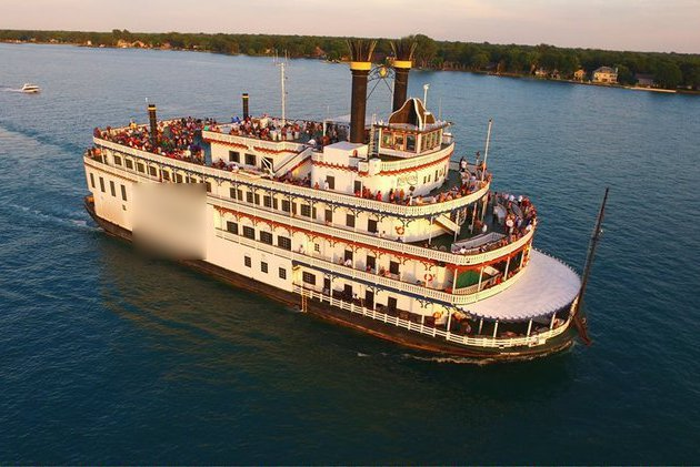 Set sail in Detroit onboard one of the largest riverboat