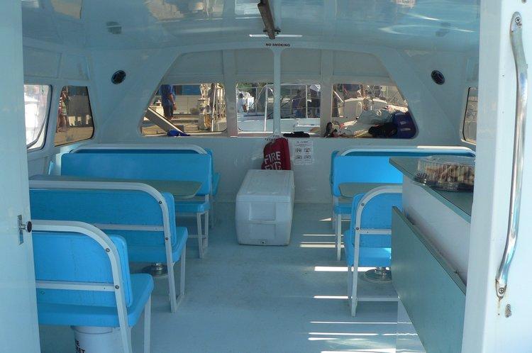Discover Fajardo surroundings on this 45 Custom boat