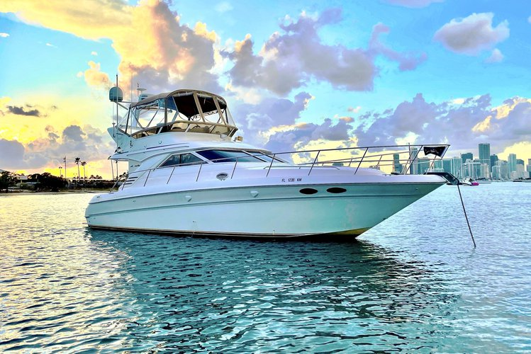 WINTER PRICES ARE HERE!!!  -  45 Ft Luxury Cruiser - Includes Refreshments, Water Toys, Bluetooth Sound System**