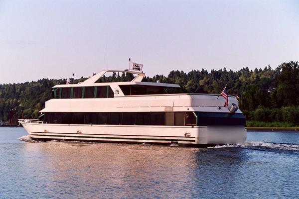 Explore Portland onboard 98' motor yacht